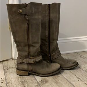 Matisse distressed riding boots, Sz 8